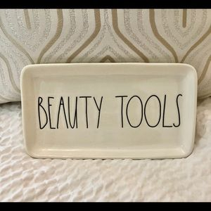 Rae Dunn Beauty Tools ceramic tray